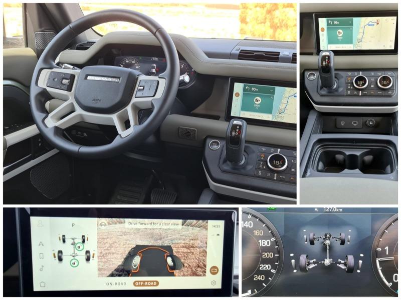 באמצעות מסך המולטימדיה ניתן לשלוט ולהתאים את הרכב למגוון רחב של תוואי שטח ומערך המצלמות מסייע להבין מה קורה מסביב