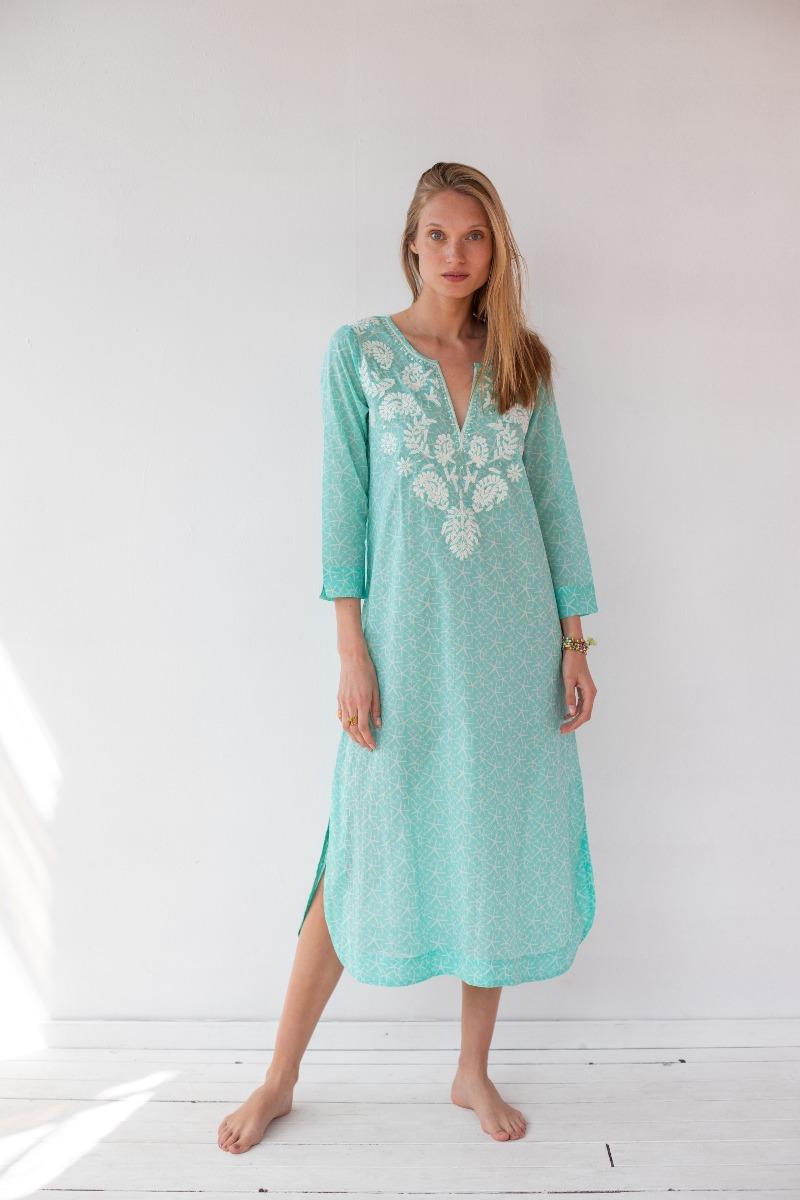 שמלת מקסי עם ריקמה של המותג גלביה 720 שקלים
