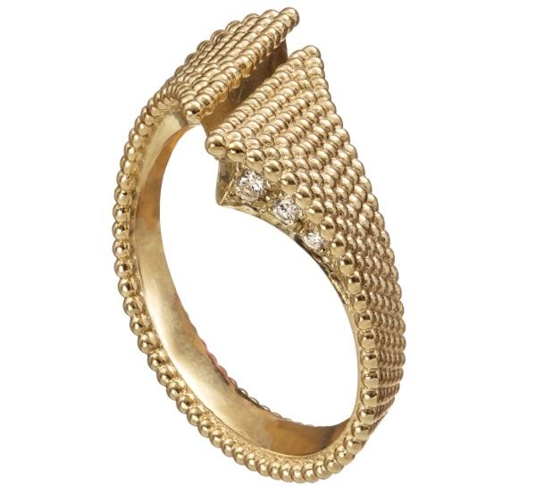 טבעת בהשראת פתיתים