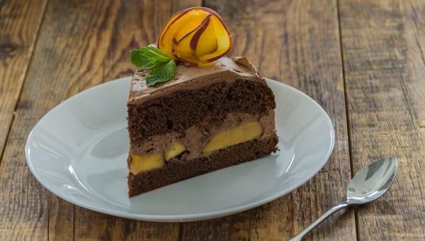 עוגת שוקולד אפרסק