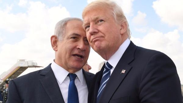 טראמפ עם נתניהו בביקורו בישראל