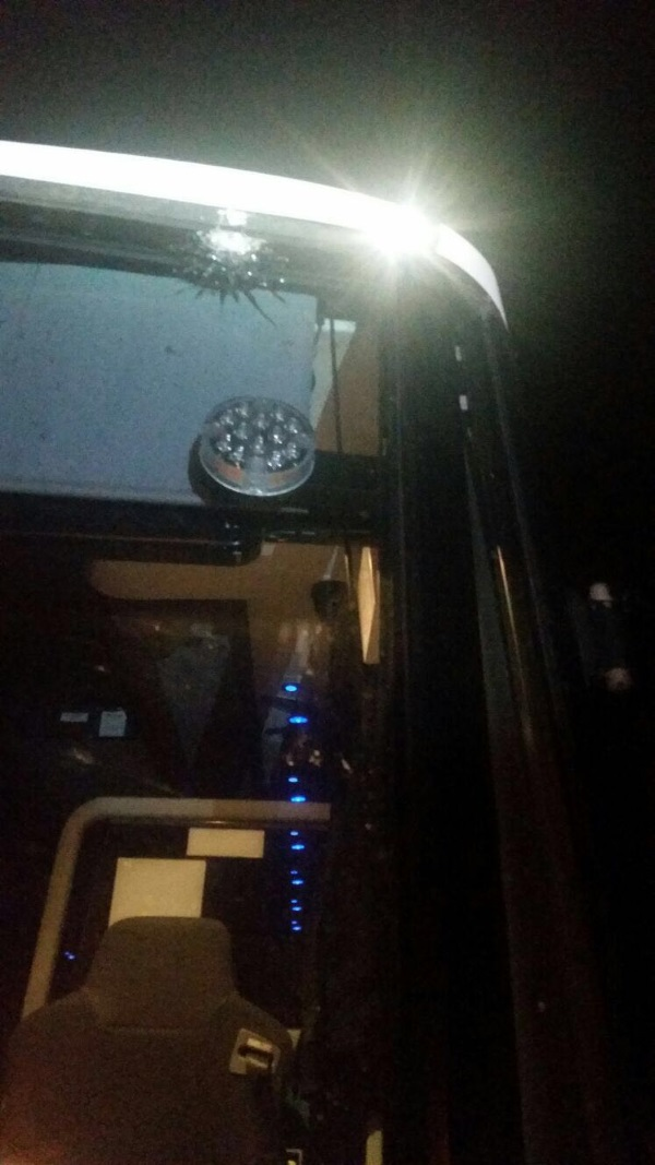 האוטובוס שנורה, והנזק
