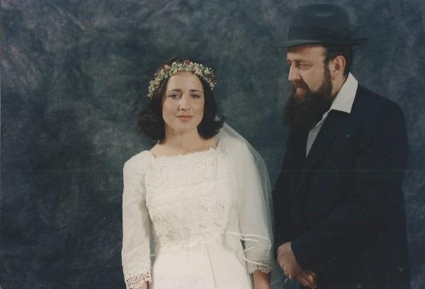 קיציס ואביה ביום חתונתה