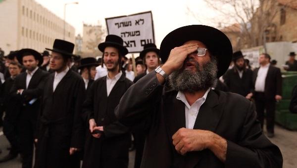 הפגנה נגד גיוס. למצולמים אין קשר לכתבה