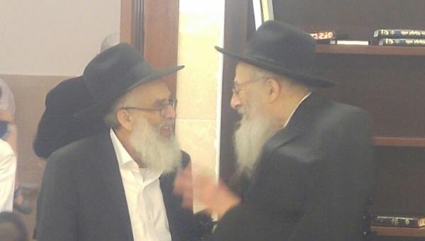 הרב צבי ישראל טאו והרב עמיאל שטרנברג