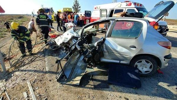 זירת התאונה סמוך לקרית מלאכי